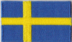 Sweden Embroidered Flag Patch, style 04.